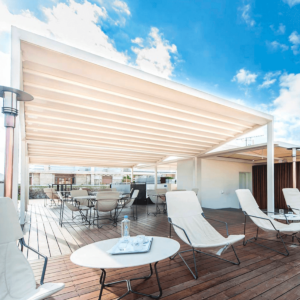 Zerro Retractable Roof System at the Herodion Hotel, Greece