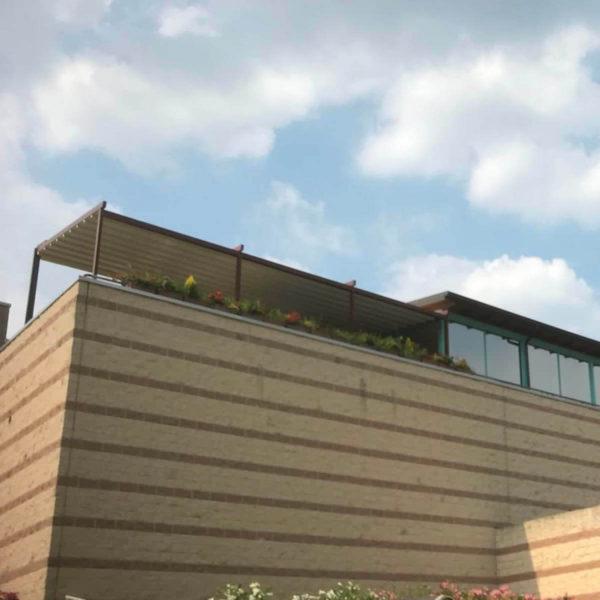 Isometric view Photo of Zerro Uniq rooftop retractable roof system