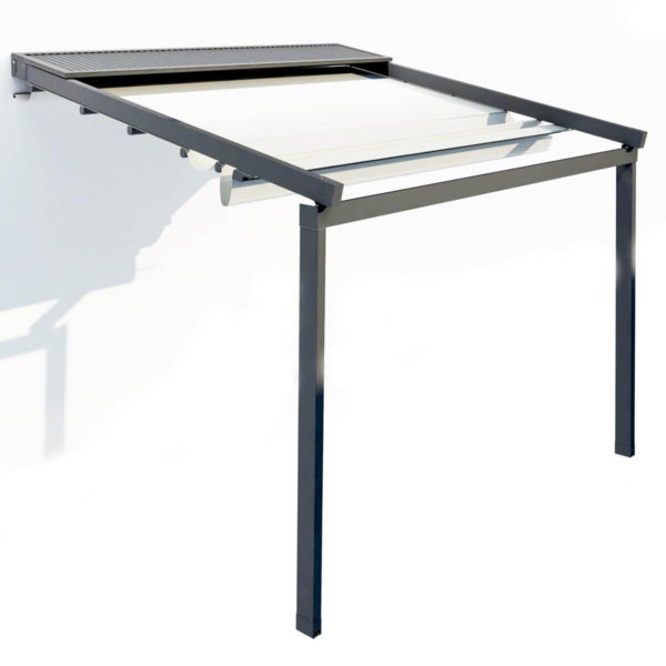Single Retractable roof system 'Zerro Uniq' - Gutter included