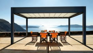Freestanding Alpha Compact Space Retractable Roof system